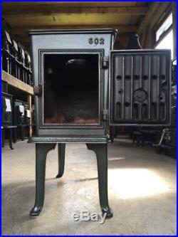 Jotul 602 Classic Cast Iron Wood Burning Stove Green Enamel Top Flue Exit #37