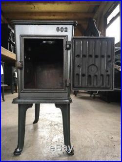Jotul 602 Classic Cast Iron Wood Burning Stove Green Enamel Top Flue Exit #39