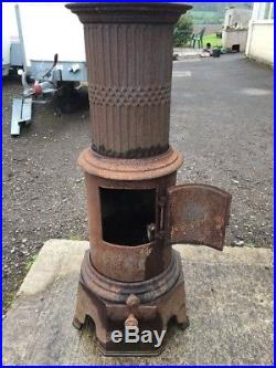 Kverner Brug 11 Cast Iron Multi Fuel Burning Project Stove Rear Flue Exit #2