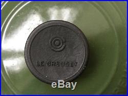 Le Creuset Stock Pot Casserole Enamelled Green Aga Woodburning Stove France