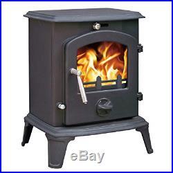 Lincsfire Ingham JA061 Luxury 5.5KW Multifuel Woodburning Stove Wood Burner Log