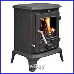Lincsfire Modern Hatton JA060 5.5KW MultiFuel WoodBurning Stove Clean Burn Cast