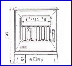 NEW 5kw Godin MiniCube 388112 French Cast Iron Wood Burner Stove With Airwash