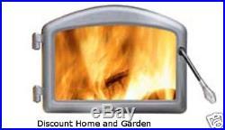 Napoleon Wood Burning Stove Insert Door Chrome H222-SS