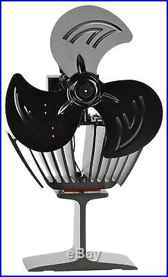New 2018 3 Blade-Oscillating Heat Powered Stove Fan For Wood-Burning And Multi-F