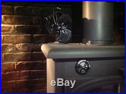 New 2019 mini 3 blade heat powered stove fan log burner wood burning stove fan
