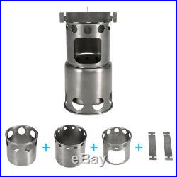 Outdoor Folding Titanium Camping Stove Backpacking Camp Stove Wood Burning T3H1
