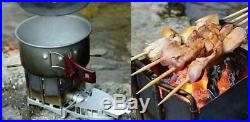 Portable Folding Ultralight Wood Burning Stove For Outdoor Cooking