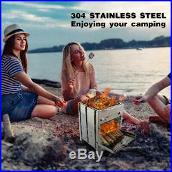 REDCAMP Camping Wood Burning Stove, Stainless Steel Compact Stove