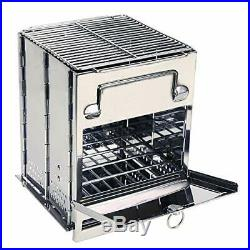 REDCAMP Wood Burning Camp Stove Folding Stainless Steel 304# Grill Large Port...