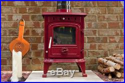 Rhone Woodburning 4.5 Kw Cast Iron Enamel Multifuel Brand New Wood Burning Stove