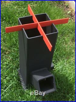 Rocket Stove Portable Wood Burning Stove Top, Survival, Heater, Camping, BBQ