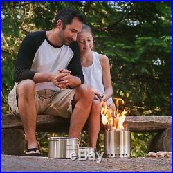 Solo Stove Campfire & 2 Pot Set Combo 4+ Person Wood Burning Camping Stove