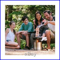 Solo Stove Campfire 4+ Person Compact Wood Burning Camp Stove for Backpacki
