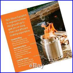 Solo Stove Campfire & Solo Stove 2 Pot Set Combo Woodburning Camp Stove Grea