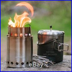 Solo Stove Titan 2-4 Person Lightweight Wood Burning Stove. Compact Camp St
