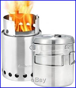 Solo Stove Titan and Solo Pot 1800 Camp Stove Combo Woodburning Backpacking