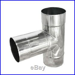 Stainless Steel T-Pipe Chimney Flue Liner T Piece Connector Multi Fuel Stoves
