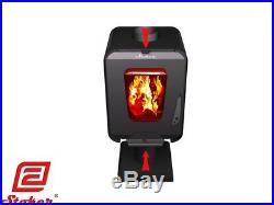 Stoker Soffit 7 Wood Burning Stove Space Heater Fireplace Ash-pan Heavy Duty