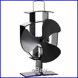 Stove Fan Heat Powered Activated Top Wood Log Burner Burning Oven Small Heater