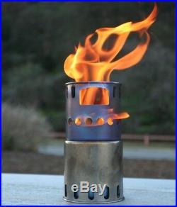 TOAKS STV-11 Titanium Wood Burning Stove Camping Stove Backpacking Stove 225g