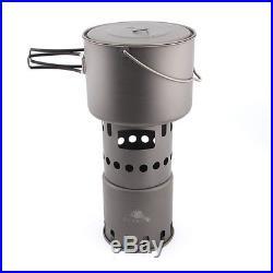 TOAKS Titanium Pans Cookware Titanium Wood Burning Stove STV-11 -Outdoor Camping