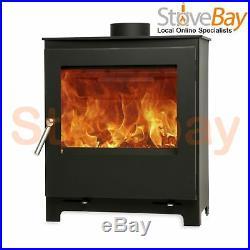 The Woodford 5 Widescreen Wood Burning Log Burner 4.9kW Defra Approved Stove