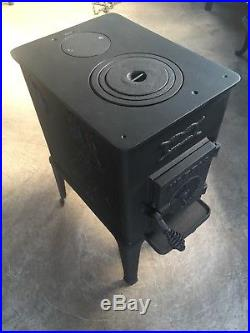 Ulefos 864 Classic Cast Iron Wood Burning Stove Black Finish Rear Flue Exit #27