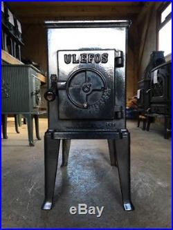 Ulefos 864 Classic Cast Iron Wood Burning Stove Black Finish Top Flue Exit #17
