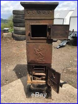 Ulefos Verk 351 Cast Iron Multi Fuel Burning Project Stove Rear Flue Exit #7