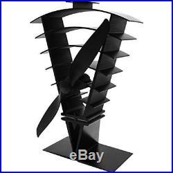 Valiant FIR364 250 mm Vanquish Eco friendly Heat Powered Stove Fan Black