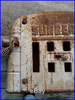 Vintage SUNBEAM Cast Iron Wood Burning Stove Door Furnace Boiler Sign ESTATE