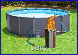 Wood Burning Pool Heater Wood Fired Swimming Pool Stove Log Fired Pool Furnace