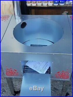 Wood burning outdoor stove, Uzbek, Kazak, Georgian, Russian, Bukarian Oshton