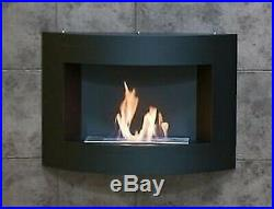 Woodburning bioethanol Round on the wall power 3,5 Kwithh without stove pipe